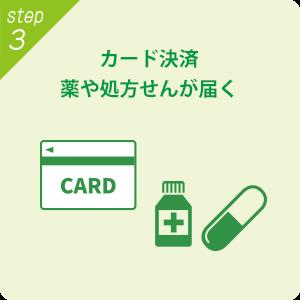 カード決済、薬や処方せんが届く