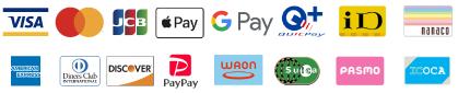 クレジットカード、電子マネーがご利用いただけます。